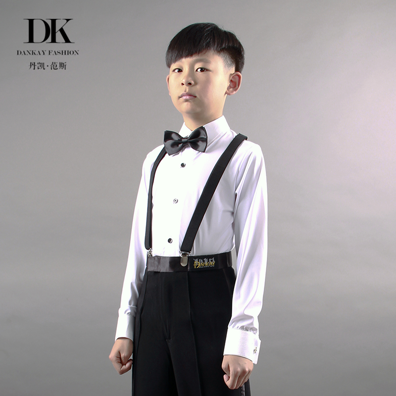 680acf7adc9d Danke classic children's Boys Latin dance clothes shirt shirt modern Latin  dance exam competition rules practice clothes