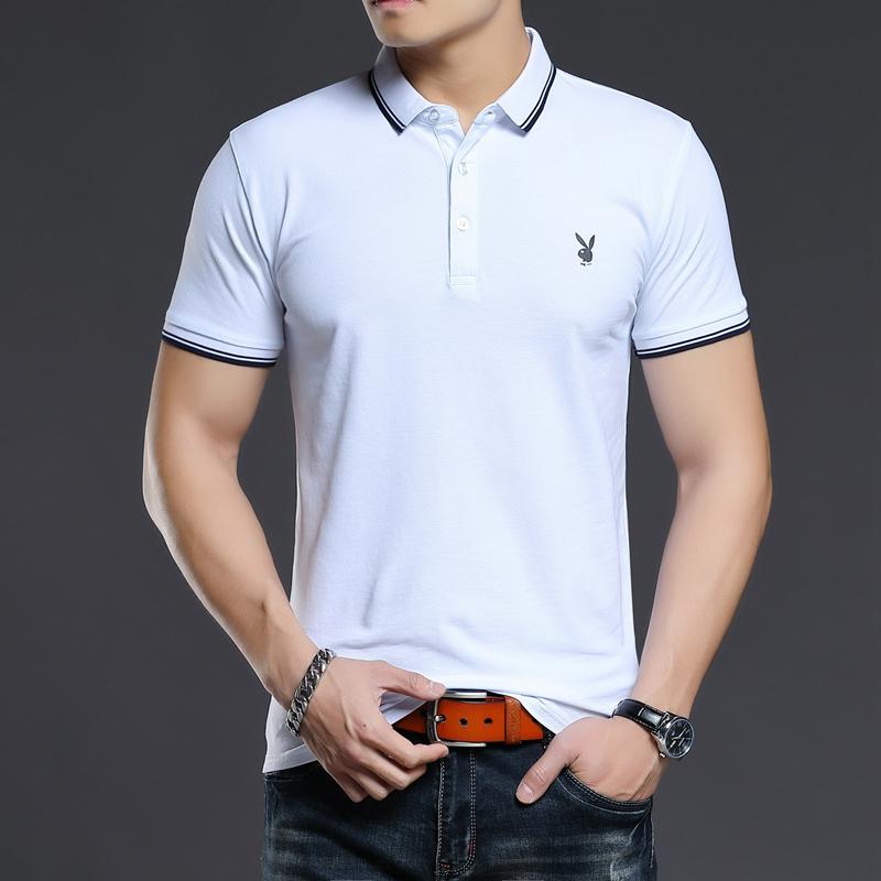 男士短袖T恤夏季薄款休闲上衣半袖衣服体恤衫夏装POLO衫555