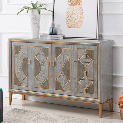 American light luxury entrance cabinet creative simple modern storage storage cabinet storage partition side cabinet household decoration cabinet