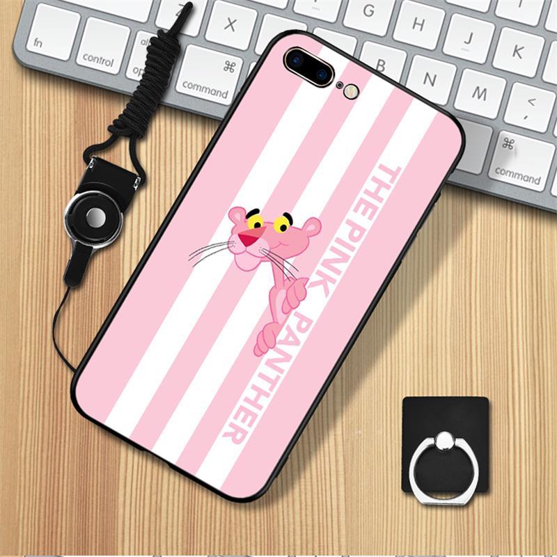 苹果6s手机壳粉红豹iphone7女款粉色6plus硅胶8全包X软创意ins潮【券后6.90元】