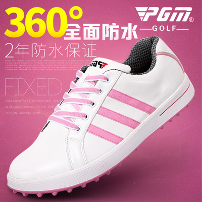 PGM golf shoes women's first layer of leather without spikes Golf Adi style waterproof women's shoes