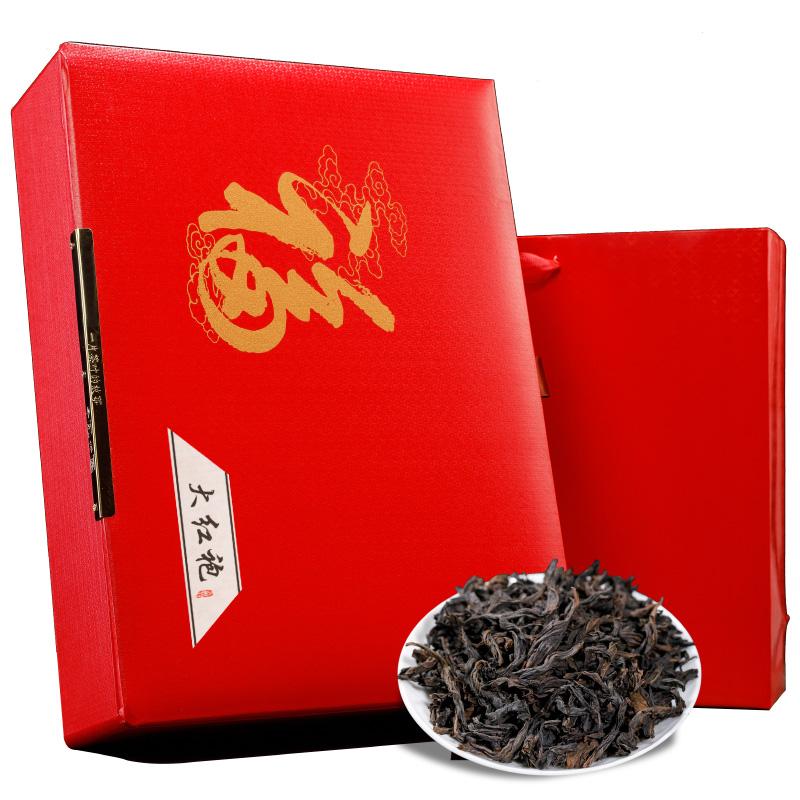 2020新茶 大红袍武夷岩茶大红袍肉桂茶 茶叶袋装精美礼盒装480g