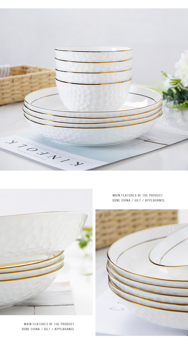 Up Phnom penh web celebrity water cube ceramic dish deep suit household deep orifice plate plate ipads porcelain tableware food dish