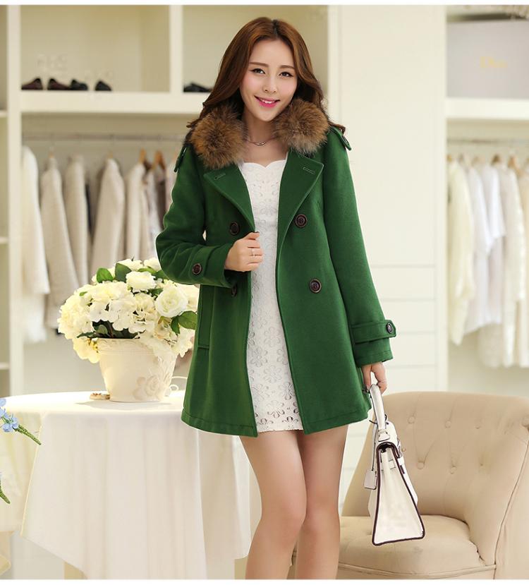 中长款毛呢外套女装秋冬季新款2018流行格子韩版羊毛双面呢子大衣
