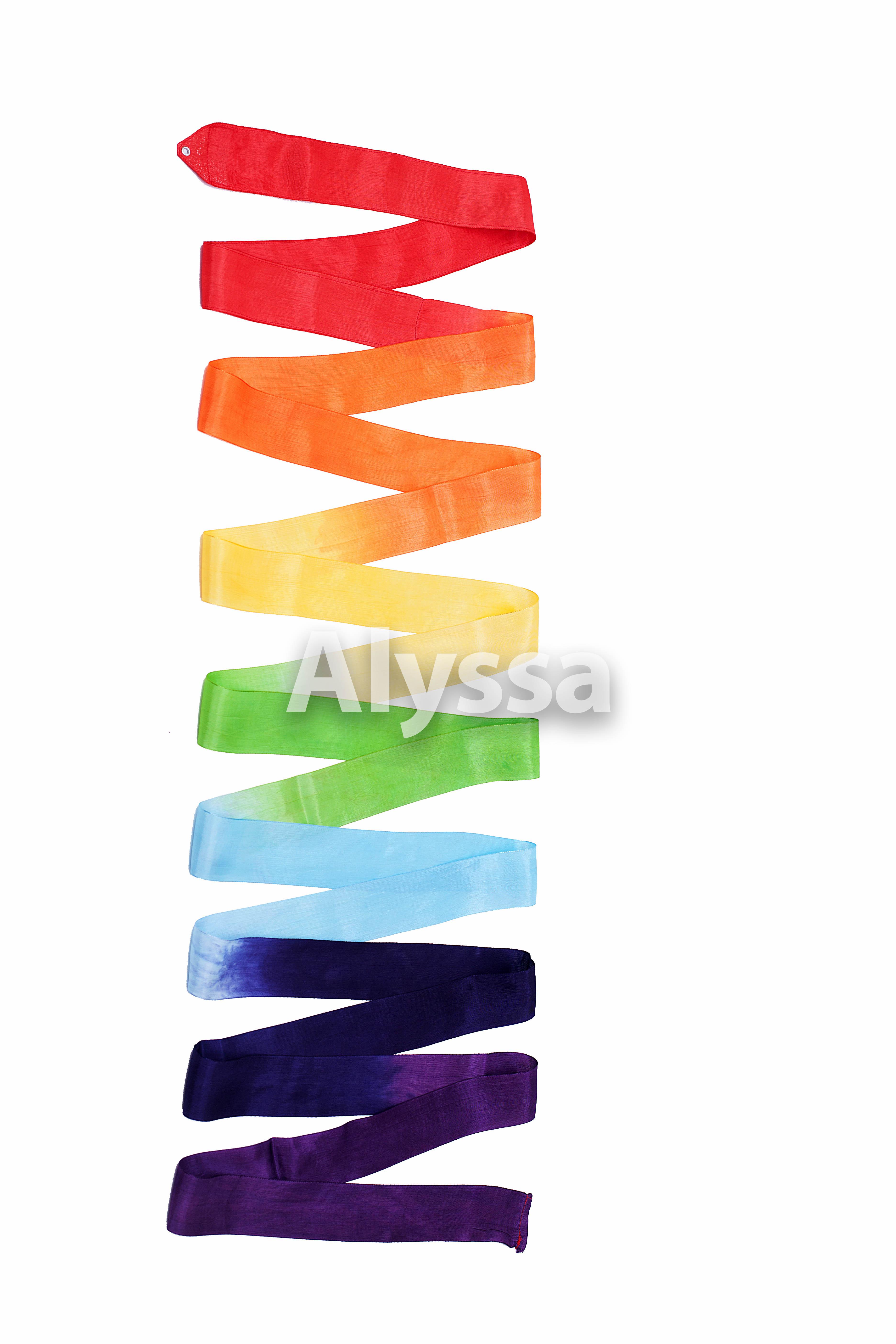 Профессиональная художественная гимнастика Алисса / Алиса цвет Пояс (R-C34) цвет Цвет радуги - без С ручкой