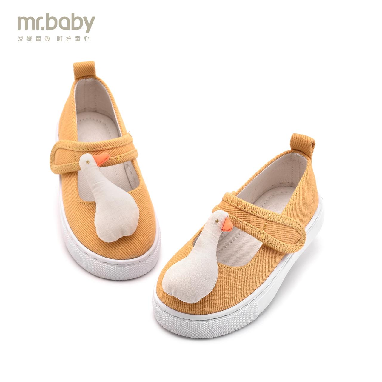 Mr.baby девочки обувной 2018 весенний и осенний сезон. новый детский уточка ребенок холст обувь обувь casual