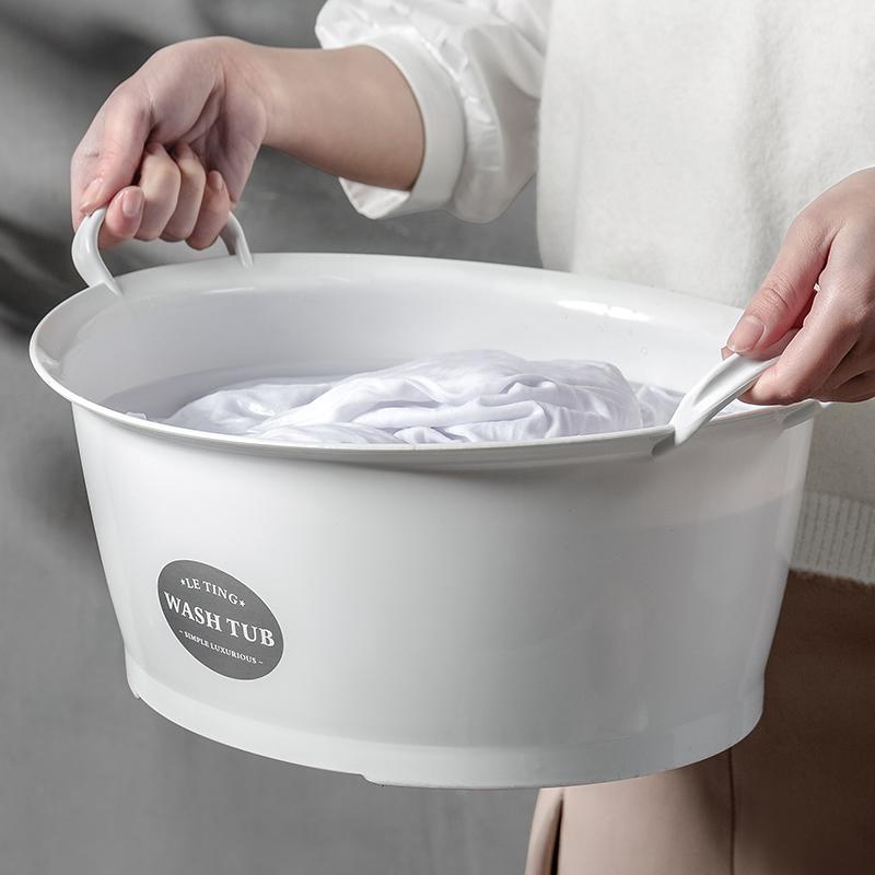 洗衣盆塑料家用洗衣服盆特大小洗脸盆