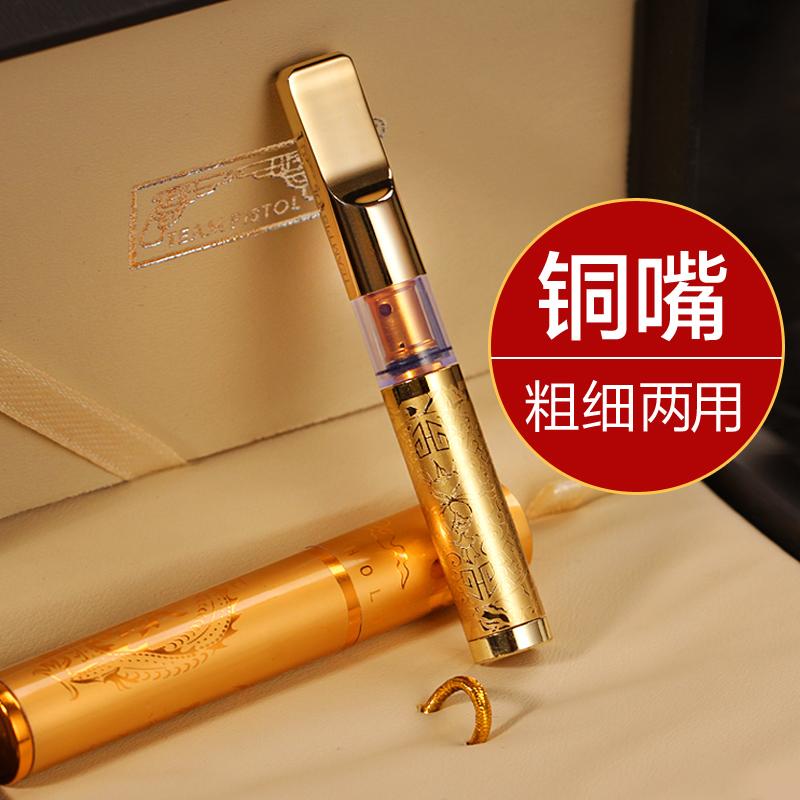 Двойная пушка 7 Фильтрующий фильтр для сигарет с фильтром для интенсивной циркуляции металлический мужской Сигарета с сигаретой для сигарет оригинал