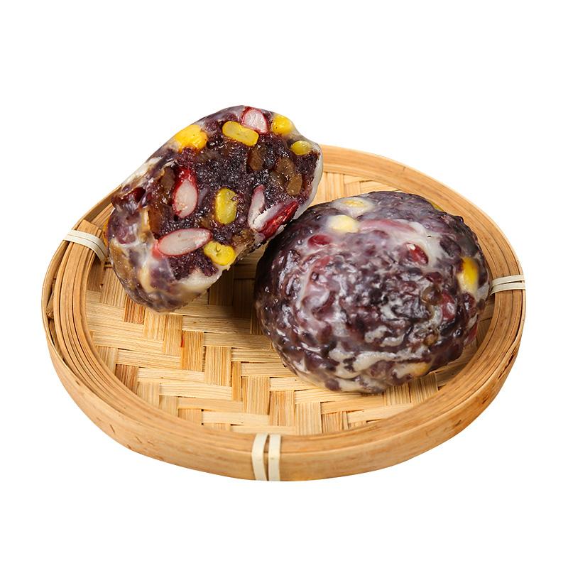 山东正宗紫米粘豆包纯手工非东北红豆粗粮黏豆包窝窝头年糕真空