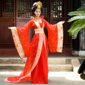 Ancient costume, Tang costume, Han costume, imperial concubine's dress, tailing Queen's costume