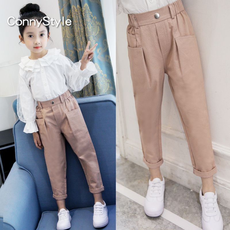 Girls pants autumn 2019 New children's style trousers spring and autumn children's cotton fashion Korean casual pants