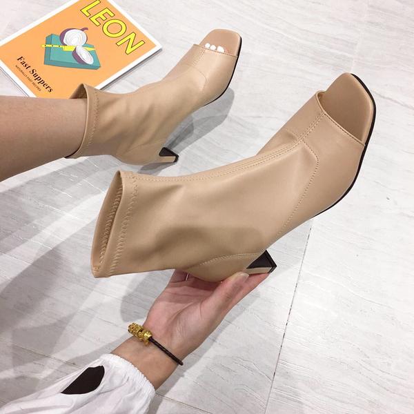 KTY8020#时尚露脚趾高跟凉鞋