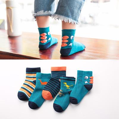 【5双装】儿童秋季卡通短袜棉袜男女童