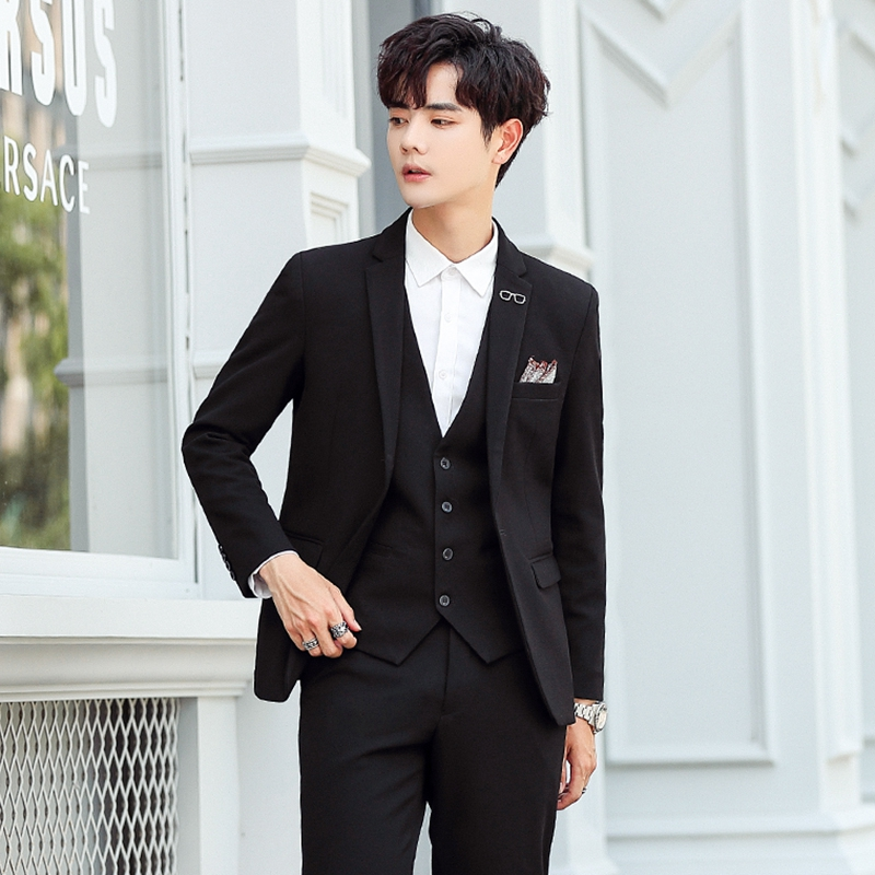 Net red suit men's small suit men's body a set of spring and autumn 2020 new with horse armor Korean version of the trend suit