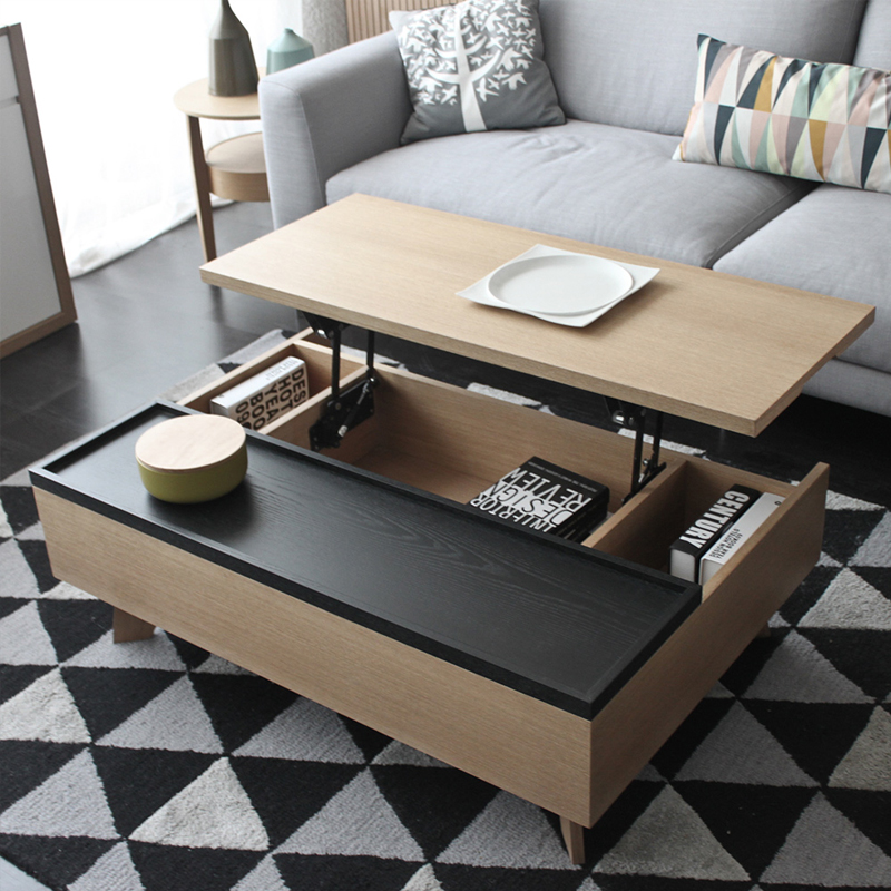 Nordic Multi Function Lift Coffee Table Dining Dual Use Simple Modern Personality Tea