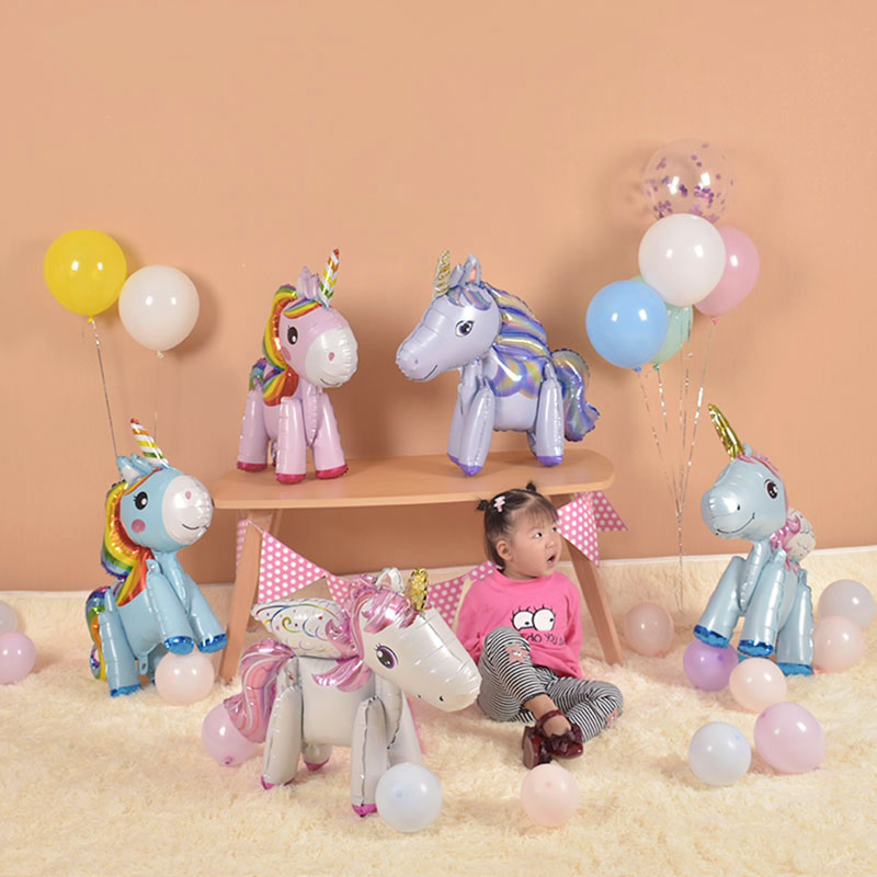 儿童宝莉宝宝布置卡通生日主题周岁气球派对装饰飞马小马铝膜用品
