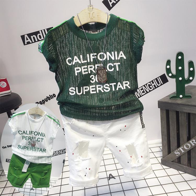 童装男童短袖t恤儿童薄款半袖体恤衫韩版中大童圆领凉快上衣包邮