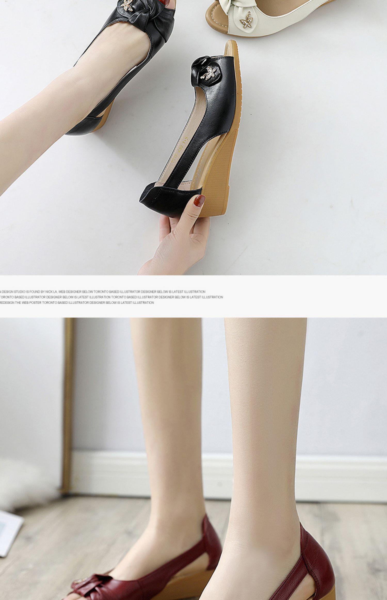 秋季2019新款妈妈鞋真皮软底舒适平底中年皮鞋防滑中老年人女奶奶商品详情图