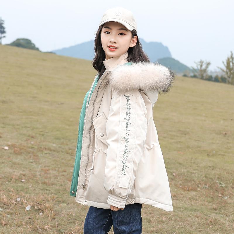 13岁女孩装冬装大童棉服女装外套加厚棉衣19年新款青少年棉袄女童