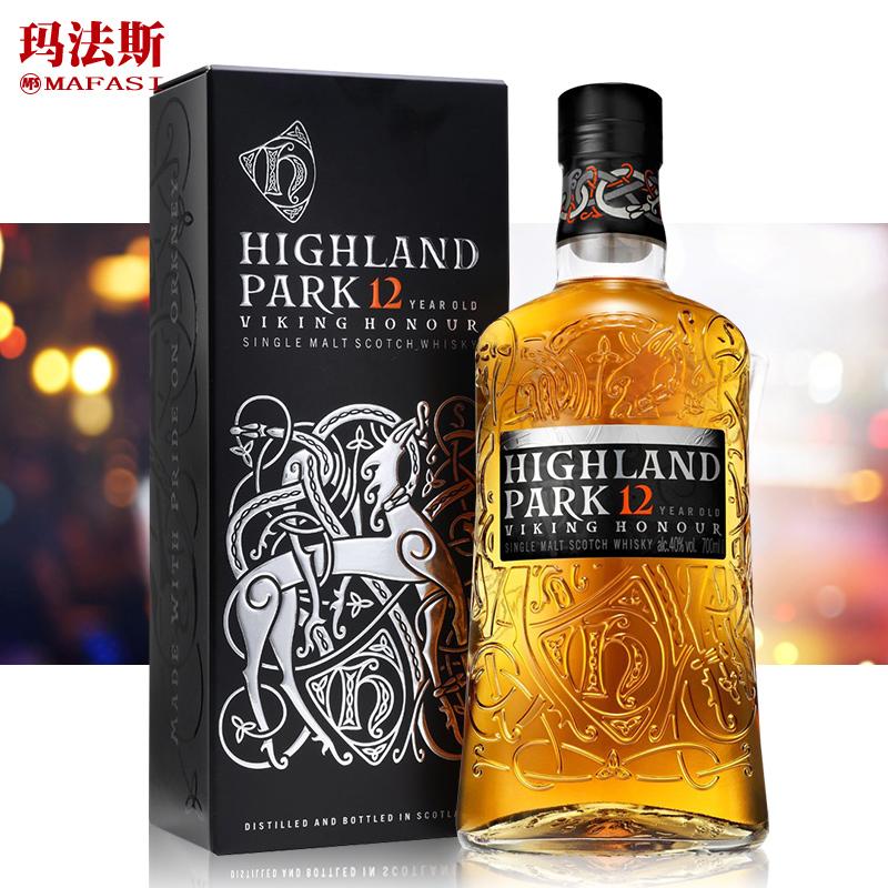 v麦芽麦芽HighlandPark洋酒高原12年苏格兰单一骑士威士忌酒700ml
