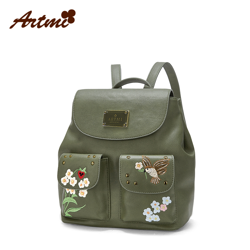 ... Artmi atimi bag 2017 New College wind casual personality shoulder bag  simple backpack. c768b4394acd2