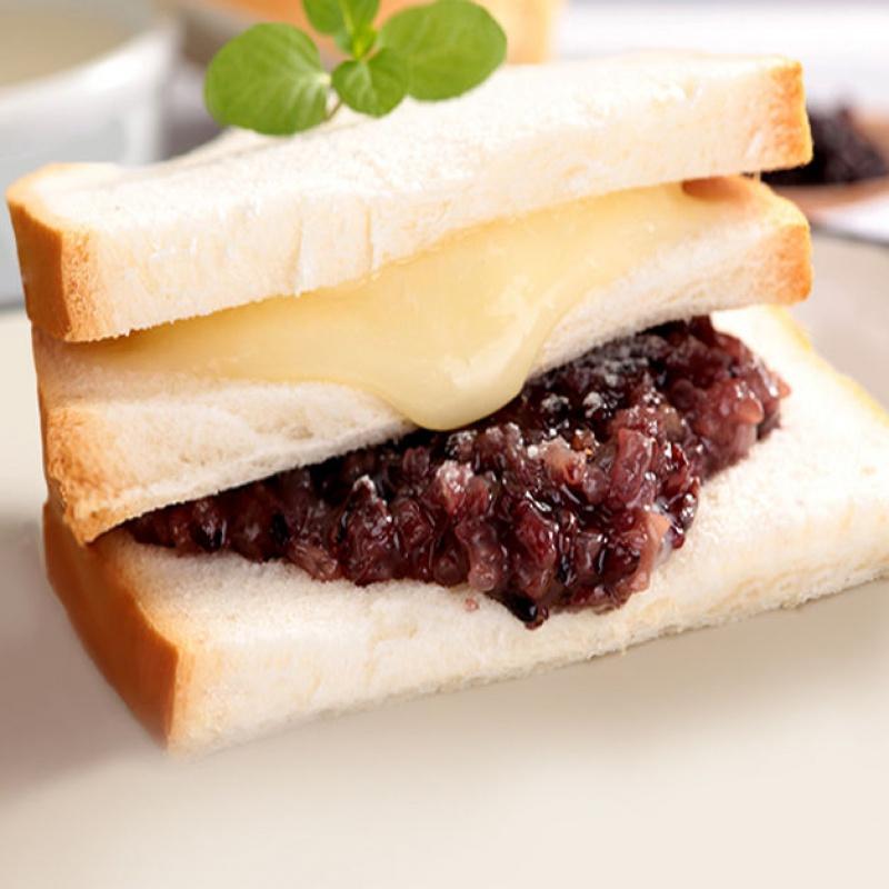 紫米面包黑米奶酪三层夹心蛋糕早餐零食