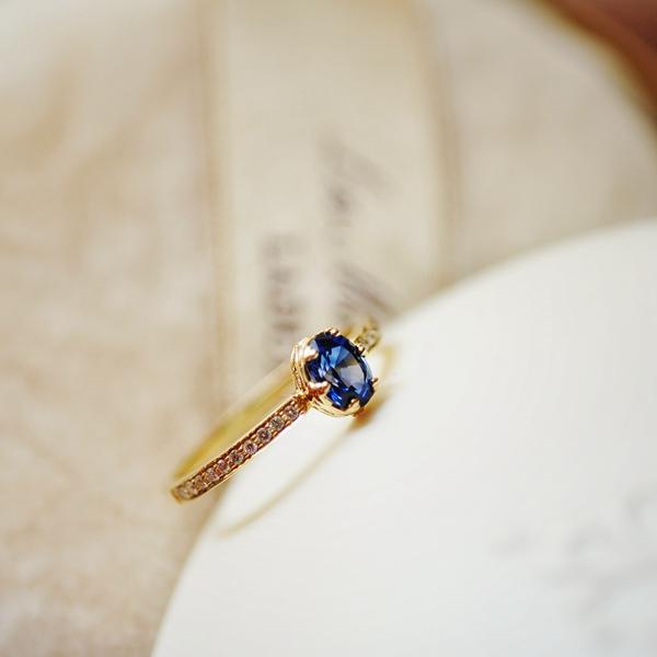 f0219edb7 Viva Sapphire Blue Sapphire Japan design Natural Sapphire Diamond 18K  yellow gold ring