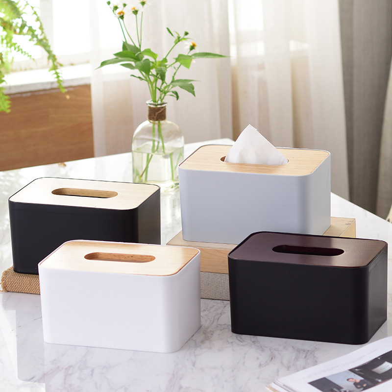 Главная гостиница еда гостиная твердая древесина корпус дуб корпус Салфетка для туалетной бумаги с тканевой коробкой