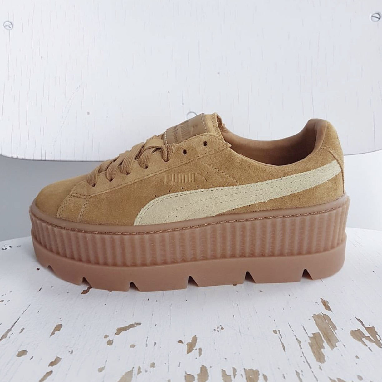 8bcbeb045b4e Puma Creeper rihanna new Puma Rihanna women s shoes ultra-thick platform  shoes