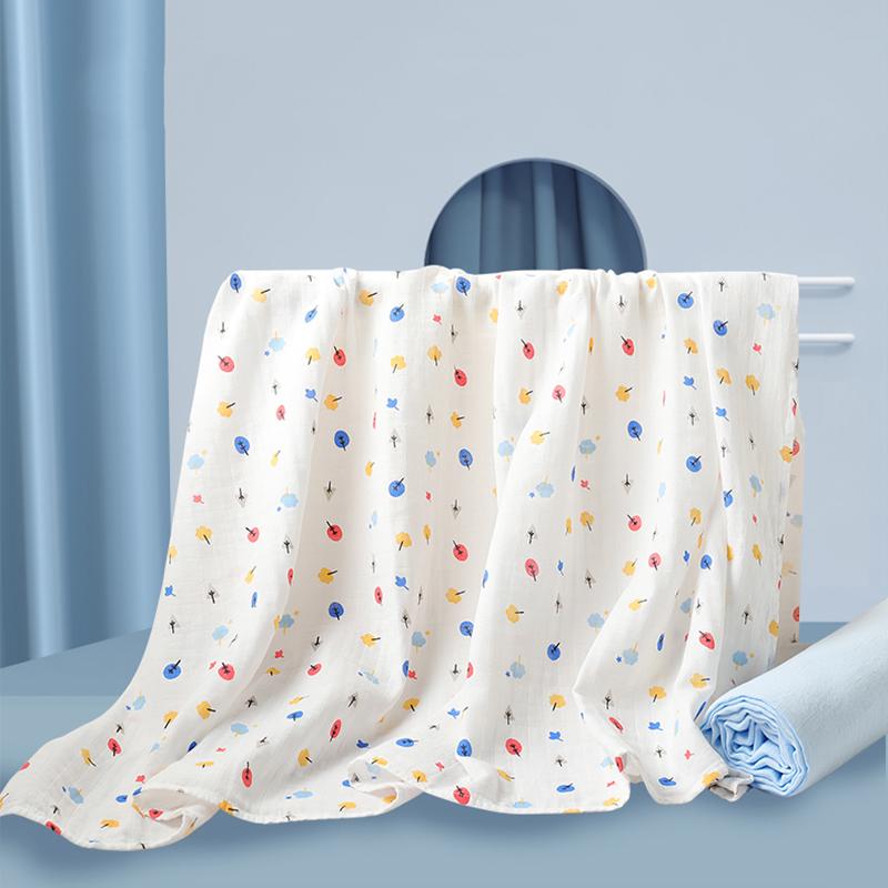 gb好孩子新生婴儿抱纱布浴巾2条