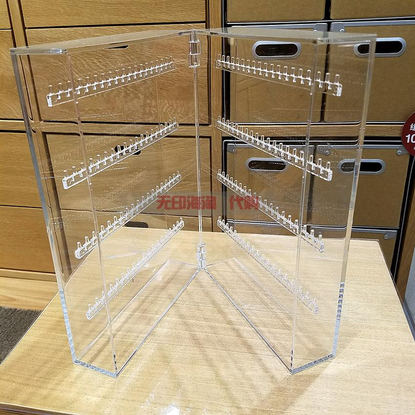 Authentic Por Muji Jewelry Box Acrylic Transpa Left And Right Folio Necklace Earrings Rack Storage