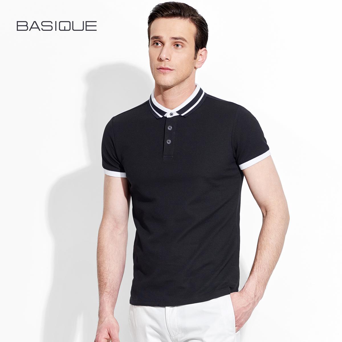 3e971a9b0af Yuanben BASIQUE Summer Men s Business Casual Polo Paul Shirt Men s Shirt  Collar Short Sleeve T-Shirt