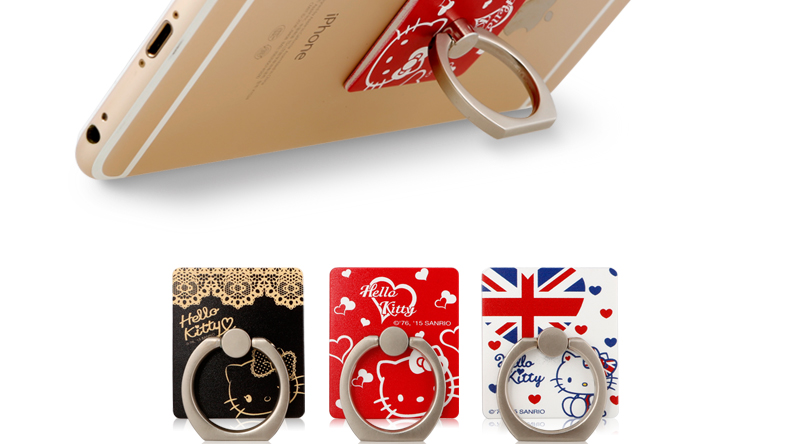 X-Doria Hello Kitty Anti-drop Ring Holder Secure Grip Phone Kickstand for Apple iPhone Samsung HTC Huawei Xiaomi Android