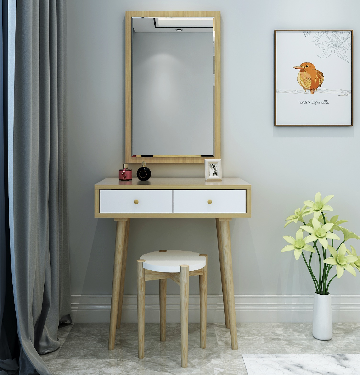 Nordic dressing table bedroom small apartment mini simple ...
