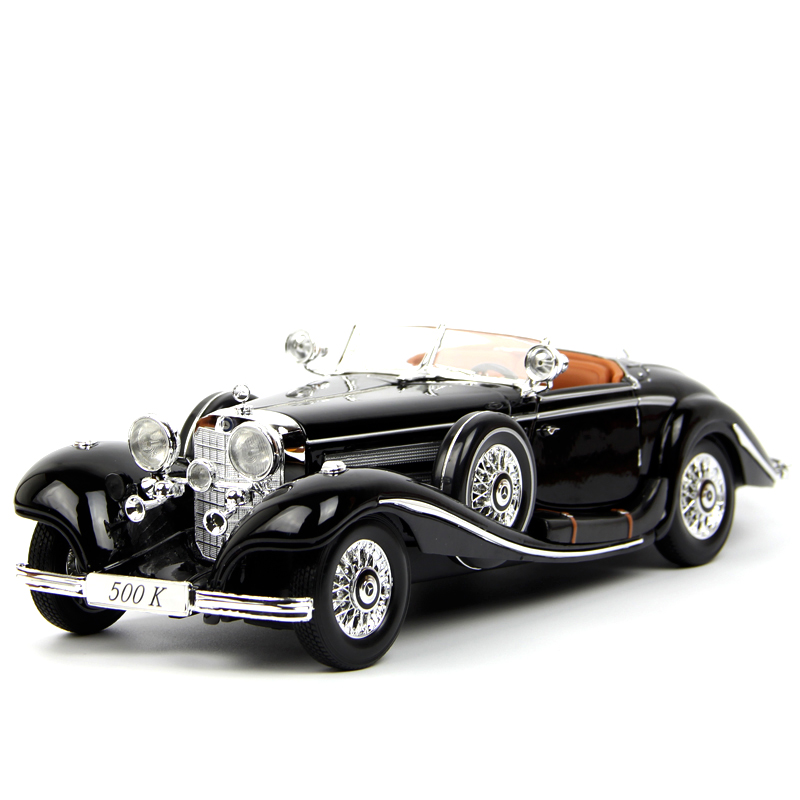 Vintage Collection 1:18 Mercedes-Benz 500 K Purple Alloy Diecast Car Model Toys
