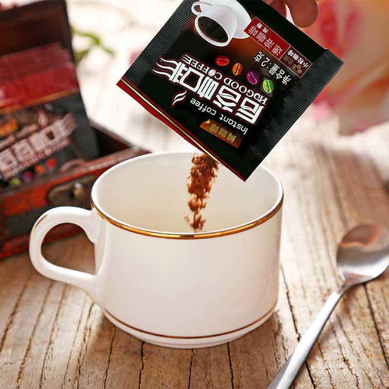 后谷 无蔗糖纯黑 速溶咖啡粉 6盒装120袋