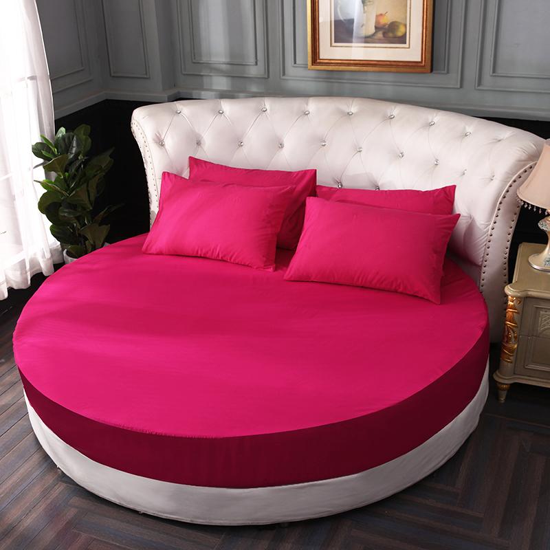 Khăn trải giường cotton tròn tùy chỉnh giường đơn mảnh cotton nguyên chất tròn bốn mảnh trải giường khách sạn chống trượt bảo vệ mùa hè - Trang bị Covers