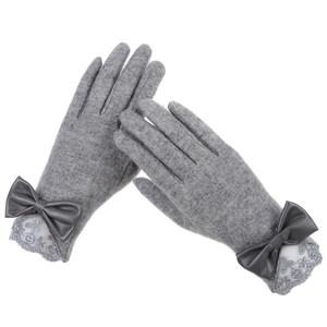 韩版手套女冬可爱保暖手套学生骑车手套女触屏羊毛手套