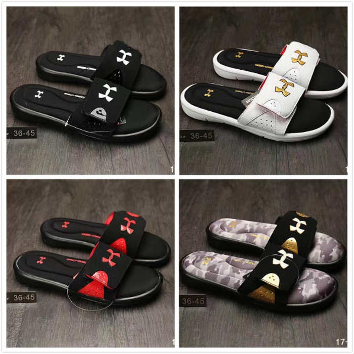 3daadca57 ... Summer sports outdoor sandals men s slippers casual word drag sandals  slip UA beach fashion men s shoes
