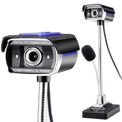电脑高清摄像头笔记本台式带麦克风耳机音响话筒孩子学生网课程直播视频录制usb免驱主播人像采集1080p夜视