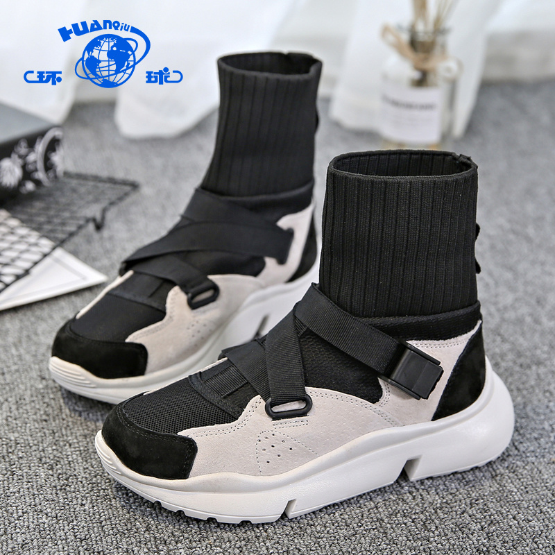 Global 2018 Winter new high stretch socks shoes hundred ins Korean version shoes Boots women's sneakers