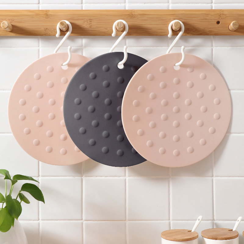 Table Decoration & Accessories 2 Colors Household Round Thick Silicone Pot Insulation Pad Kitchen Anti-hot Pad For Bowl Placemat Table Dish Cup