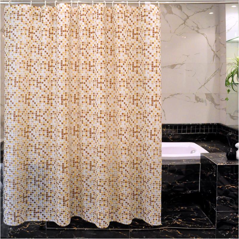 卫生间不透明马赛克加厚防水浴帘