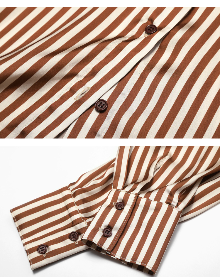 Striped Blouses Tree Sleeve 12