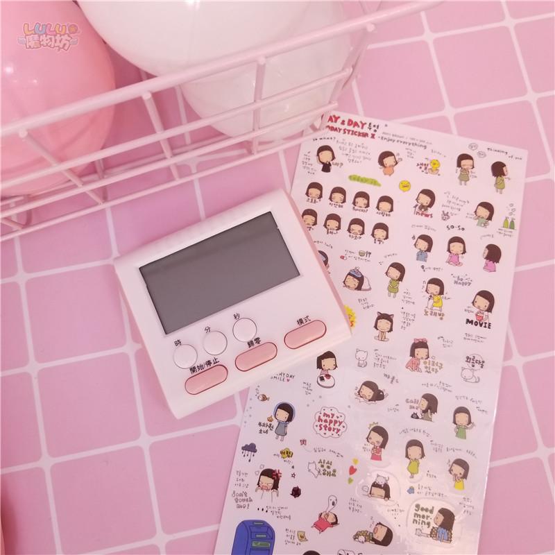 鬧鐘 粉色可愛迷你鬧鐘電子計時器電子鬧鐘表台鐘看時間桌面道具擺件