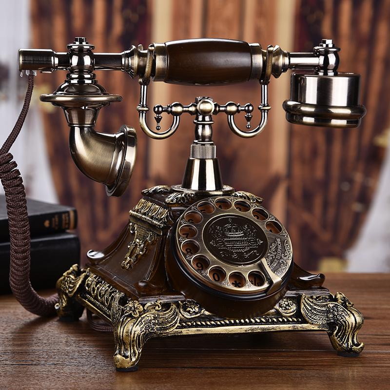 欧式复古电话机无线电话插卡电话机时尚创意转盘座机仿古家用复古