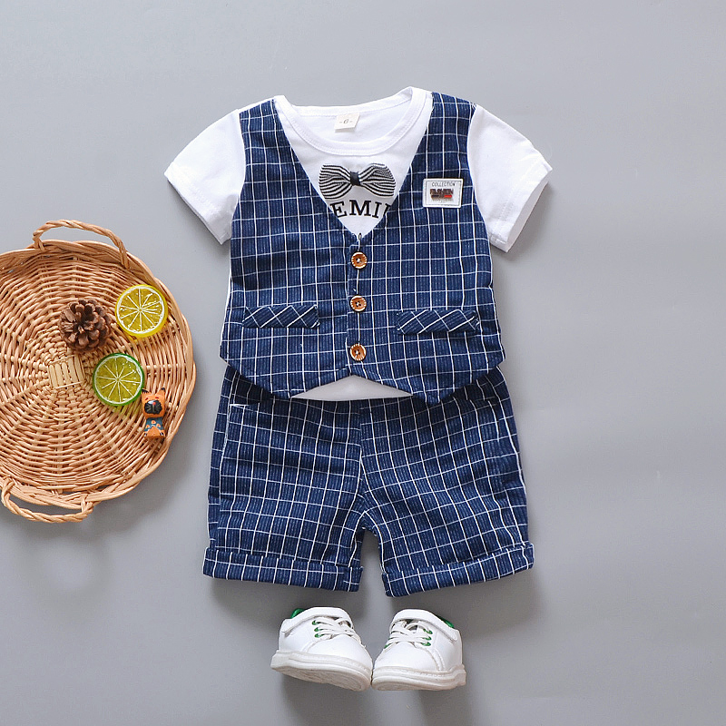 f27466a8ba45 USD 78.76  0 summer Models 1 boy s birthday dress Set 2 Baby British ...
