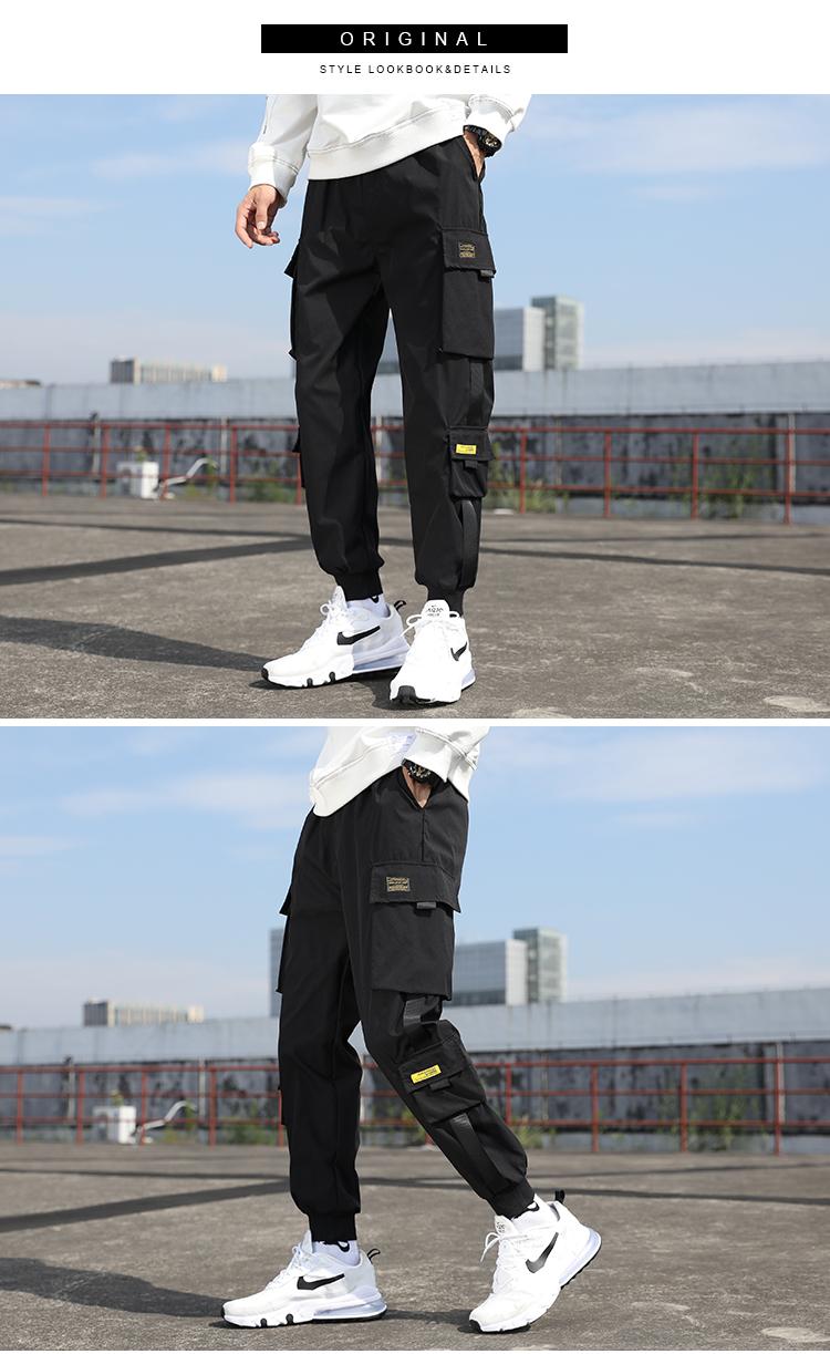 2020秋款男休闲裤束脚裤运动裤哈伦裤子九分裤工装长裤 K15-P25