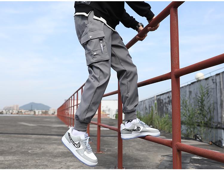 工装裤休闲裤束脚裤运动裤秋冬季爆款裤子男学生修身潮流K602-P25