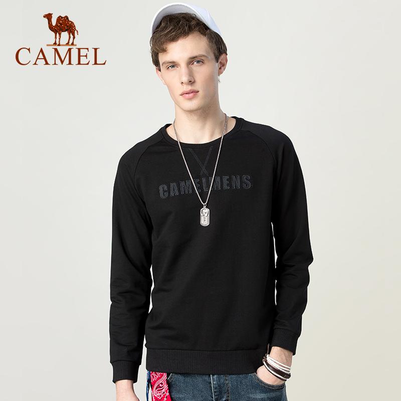 骆驼男装 春秋季男士套头圆领上衣韩版潮流休闲卫衣男生打底衫